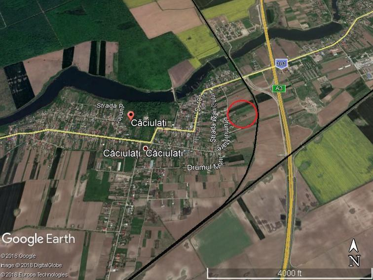Land for sale: 8.800 sqm, intravilan –  Caciulati, Moara Vlasiei
